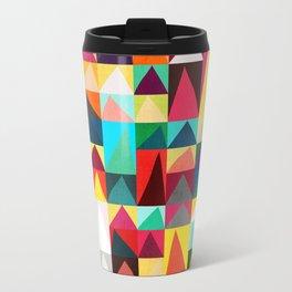 Abstract Geometric Mountains Travel Mug