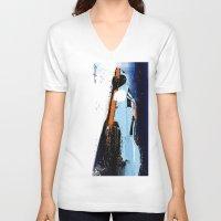 porsche V-neck T-shirts featuring PORSCHE 917 -  by Michele Leonello