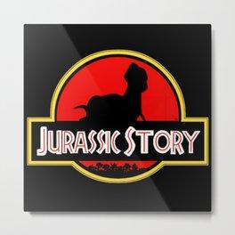 Jurassic Story Metal Print