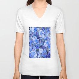 Wild Blue Rose Garden Unisex V-Neck