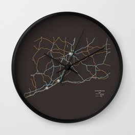 Connecticut Highways Wall Clock