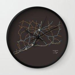 Connecticut Highways Wall Clock