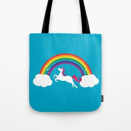 Unicorn Rainbow in the Sky Tote Bag