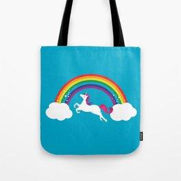 Unicorn Rainbow in the Sky Tote Bag
