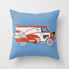Pee Wee's Big Adventure Van Throw Pillow