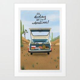 Lets Be Adventures Print Art Print