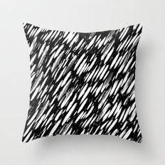 Boho BW Brushstroke Throw Pillow