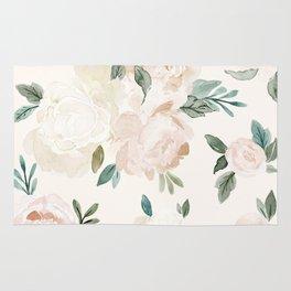 Vintage Blush Floral - softest pastel Rug
