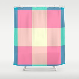 Stripes and Squares Shower Curtain