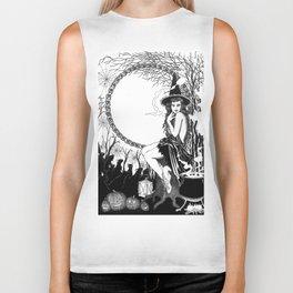 Halloween Witch Biker Tank