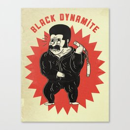 black dynamite! Canvas Print