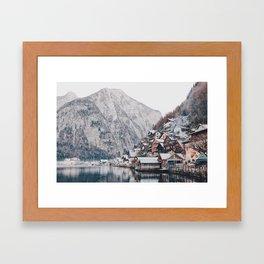 VILLAGE - COAST - MOUNTAINS - SNOW - PHOTOGRAPHY Framed Art Print