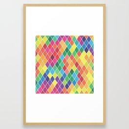 Watercolor Geometric Pattern II Framed Art Print