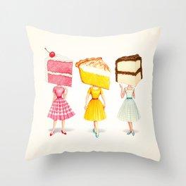Cake Head Pin-Ups Throw Pillow