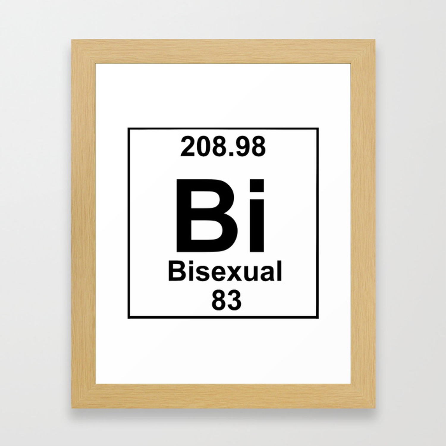 Periodic Table Bi Sexual Framed Art Print