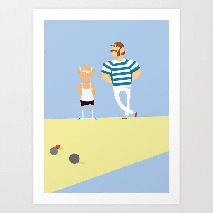 men bowling Art Print