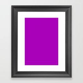Heliotrope magenta Framed Art Print