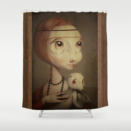 The big head lady and the ermine Shower Curtain