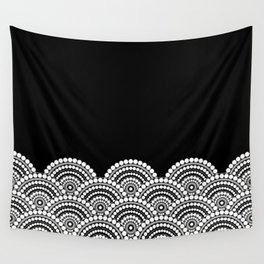 BLACK AND WHITE (abstract pattern) Wall Tapestry