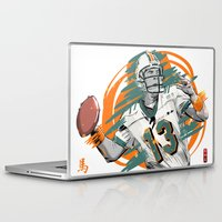 nfl Laptop & iPad Skins featuring NFL Legends: Dan Marino - Miami Dolphins by Akyanyme