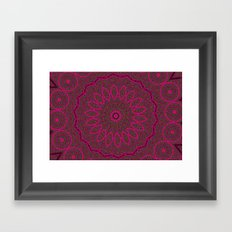 Lovely Healing Mandalas in Brilliant Colors: Plum, Copper, and Pink Framed Art Print