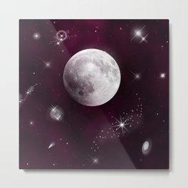 Night Sky in Purple Metal Print