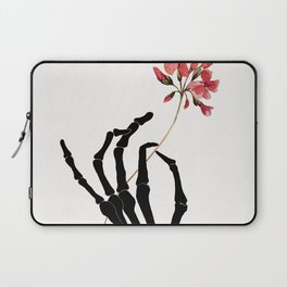 Skeleton Hand with Flower Laptop Sleeve