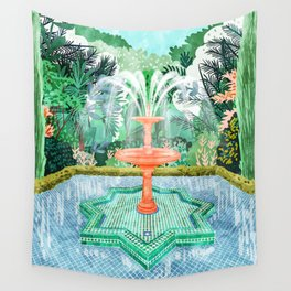 The Fountain Of Life #painting #nature Wall Tapestry