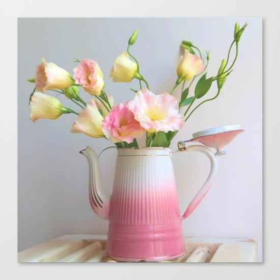 Coffee, Tea or Flowers Canvas Print