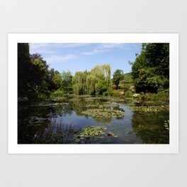 Monets Waterlily Pond Art Print