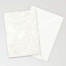 Dotted Gold Stationery Cards