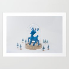 Oh deer, it's Christmas already! Art Print