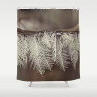 jack frost Shower Curtains featuring frost by Bonnie Jakobsen-Martin