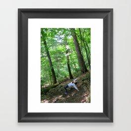 Forest Yoga Framed Art Print