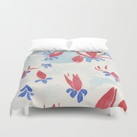china Duvet Covers featuring China Magnolias by Dreamy Me