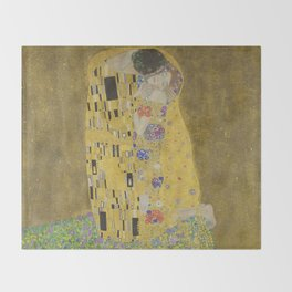The Kiss - Gustav Klimt Throw Blanket