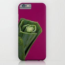 Leek top on pink iPhone Case