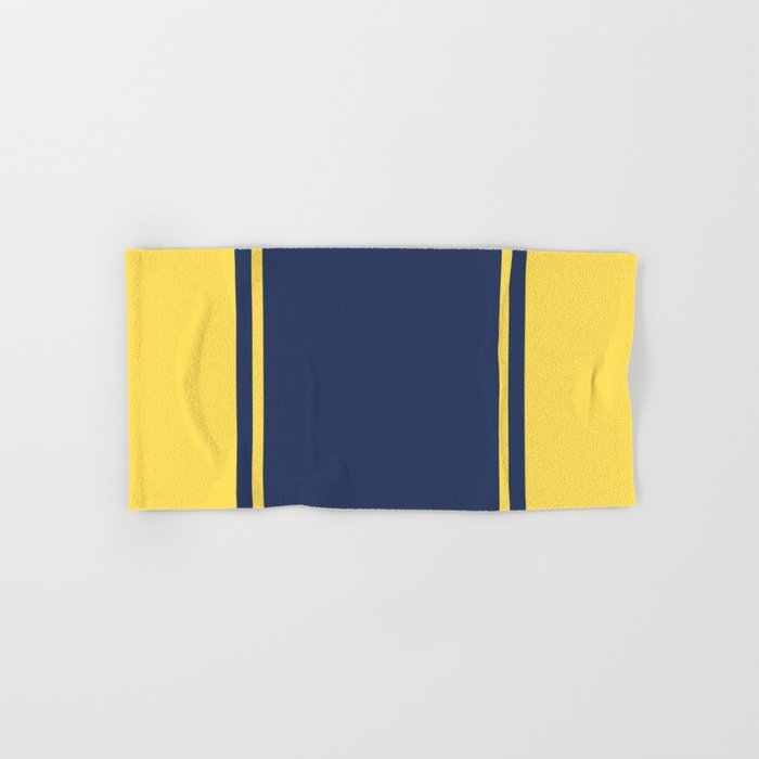 Yellow and Blue Pattern Hand & Bath Towel