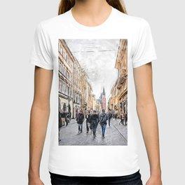 Krakow Florianska street #cracow #krakow T-shirt