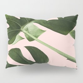 Monstera x Pink Pillow Sham