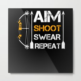 Archery Swearing Metal Print