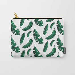 tropical banana leaves Carry-All Pouch