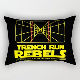 Trench Run Rebels Rectangular Pillow