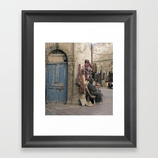 Marrakesh Street Framed Art Print