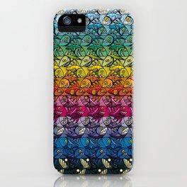 Escher Fish Rainbow Pattern iPhone Case
