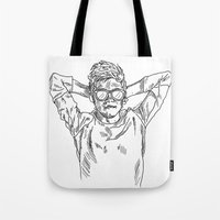 niall horan Tote Bags featuring niall horan sketch by jessiicaas