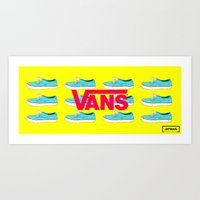 vans Art Prints featuring Vans by Jayesh Jayman Joshi