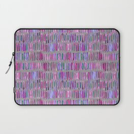 Messy Watercolor Stripes in Pink and Purple Laptop Sleeve