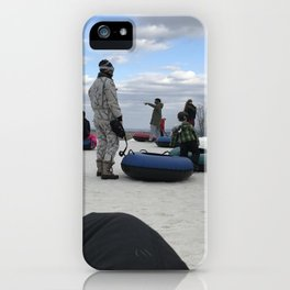 Snow Tubing iPhone Case