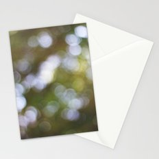 tree bokeh Stationery Cards